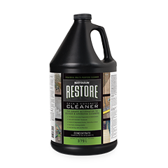 Deck and concrete cleaner product page for Deck and concrete cleaner