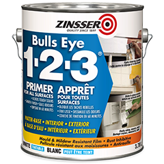 Zinsser bulls eye 1 2 3 water base primer product page Oil based exterior paint brands