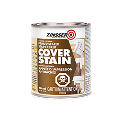 Zinsser cover stain oil base primer product page for Exterior wood water based primer