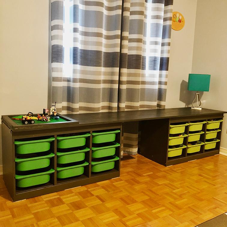 Ikea Shelf / Lego Desk Hack